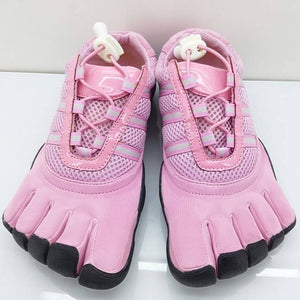 Pink Stretch Five Finger Shoes Non-slip Rubber Training Shoes With Separate Toes