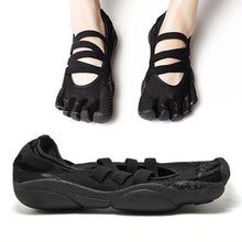 Load image into Gallery viewer, Black Pilates Yoga Shoes Five Finger Shoes Health Indoor Dance Shoes