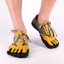 Load image into Gallery viewer, Yellow Indoor Five Finger Shoes Non-slip Casual Shoes For Men