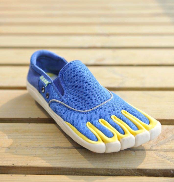 Blue Quick Dry 5 Toe Shoes Outdoor