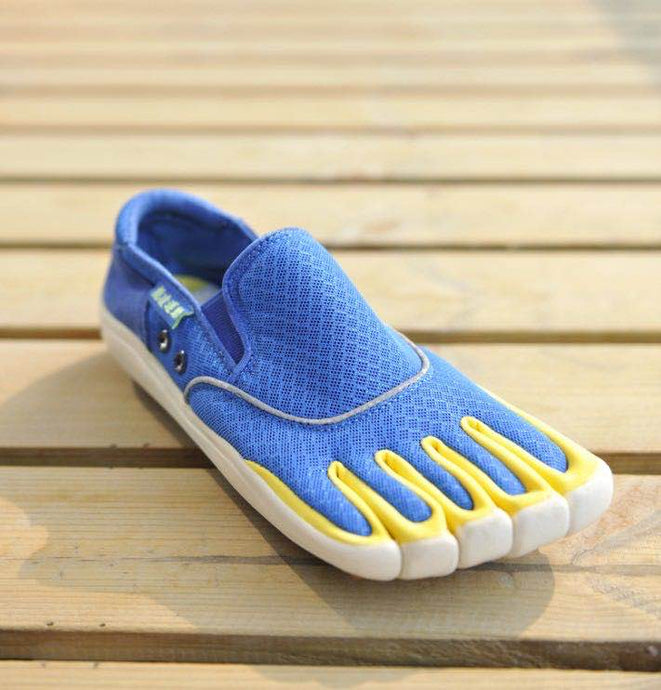 Blue Quick Dry Water Toe Shoes Outdoor Casual Non-slip Five Finger Shoes