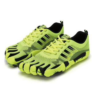 Aviator Breathable Five Toe Shoes Blue/Black/Fluorescent