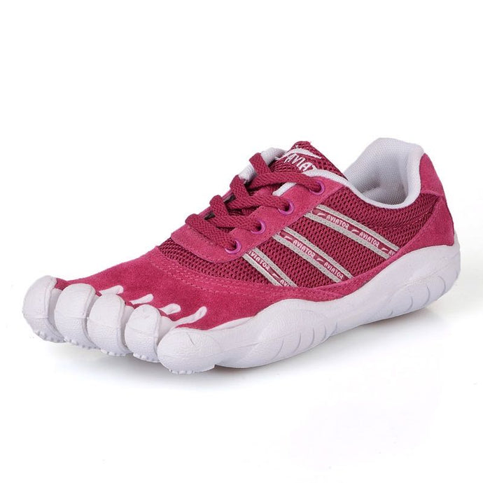 Women's Pink Five Toe Shoes Stylish Individual Toe Shoes