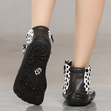 Load image into Gallery viewer, Women's Fashion White Five Finger Shoes with Black Dots