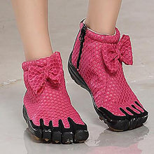 Load image into Gallery viewer, Women's Rose Red Five Finger Boots Mesh Five Toe Shoes