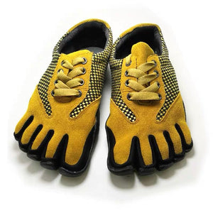 Yellow Indoor Five Finger Shoes Non-slip Casual Shoes For Men