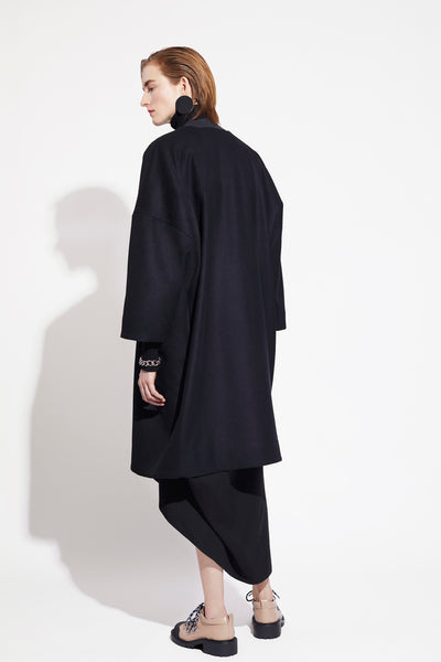 GEOMETRIC WOOLLEN COAT