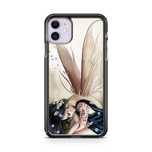 Anime Waving The Wings Girl iPhone 11 Case Cover | Oramicase