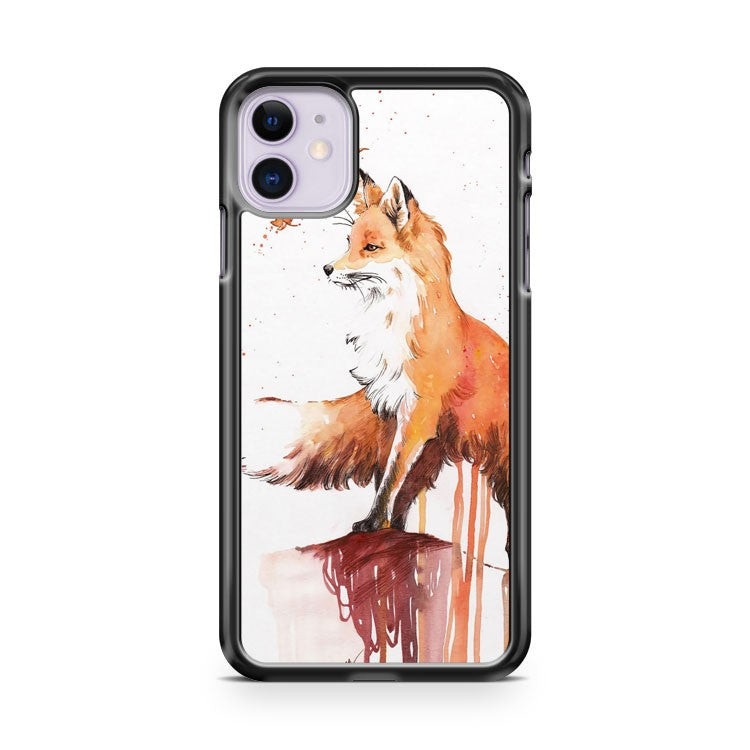 Artsy Beautiful Red Fox in Autumn iPhone 11 Case Cover | Oramicase