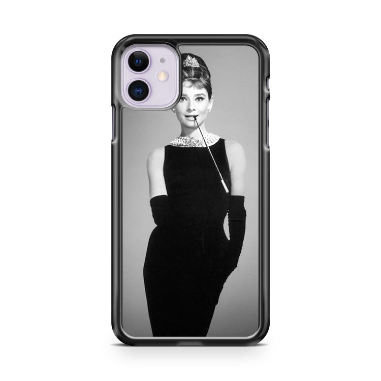 AUDREY HEPBURN QUEEN OF ELEGANCE iPhone 11 Case Cover | Oramicase