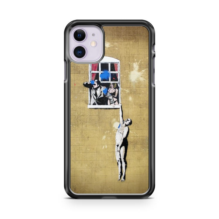 Banksy in Bristol Bristol Street Art Walk iPhone 11 Case Cover | Oramicase