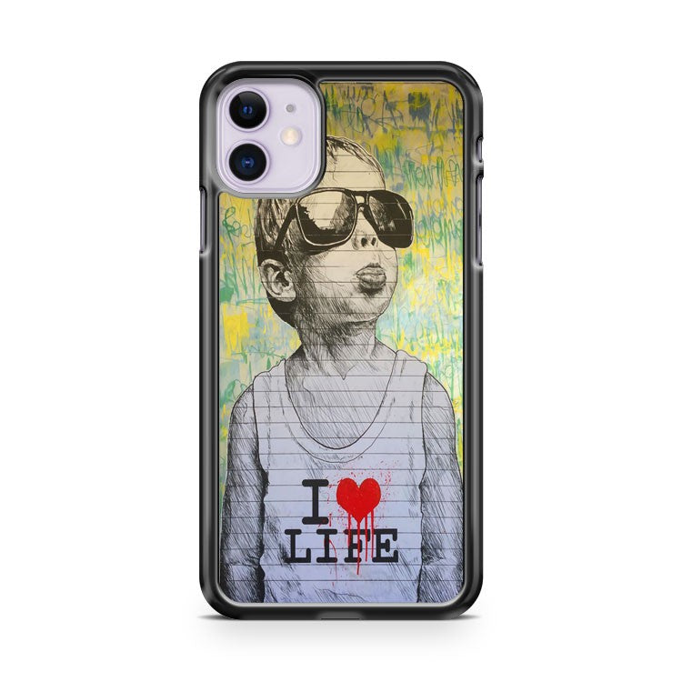 Bansky I LOVE LIFE iPhone 11 Case Cover | Oramicase