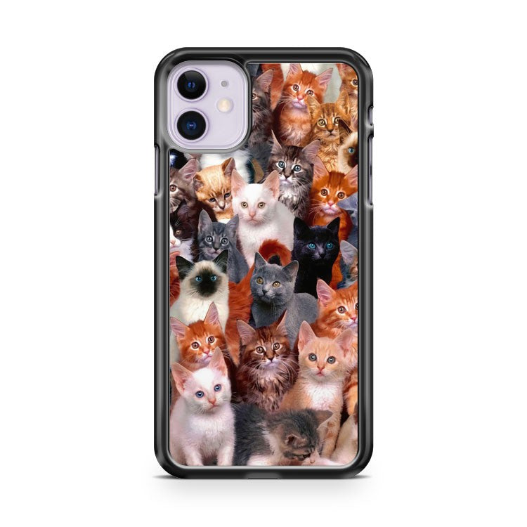 Beautiful Cat Kitten Collage iPhone 11 Case Cover | Oramicase