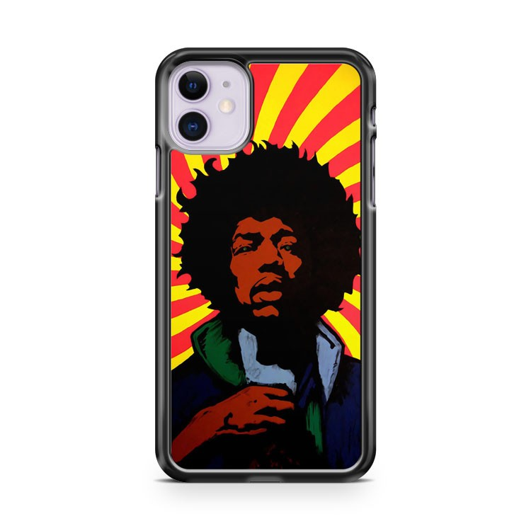 Jimi Hendrix Colour Psychedelic iPhone 11 Case Cover | Oramicase