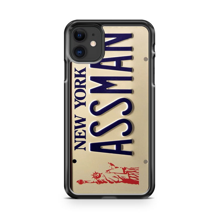 Assman York License Plate iPhone 11 Case Cover | Oramicase
