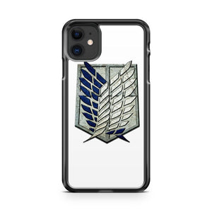 attack on titan logo 2 iPhone 11 Case Cover | Oramicase