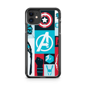 Avengers Minimalist 4 iPhone 11 Case Cover | Oramicase