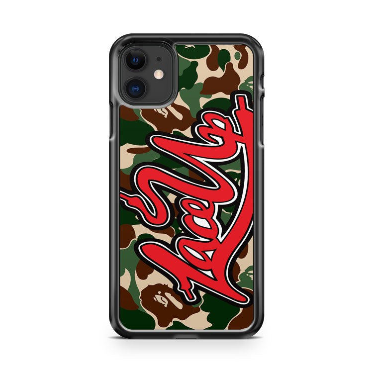 Bape Camo Lace Up MGK Machine Gun Kelly iPhone 11 Case Cover | Oramicase