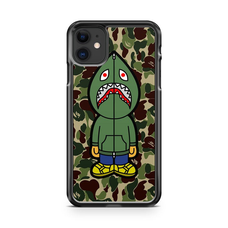 bape camo shark green hoodie 2 iPhone 11 Case Cover | Oramicase