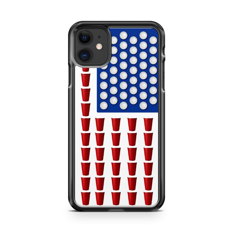Beer Pong Drinking Game American Flag 2 iPhone 11 Case Cover | Oramicase