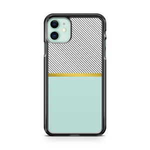 Aqua Gold and Stripes iPhone 11 Case Cover | Oramicase