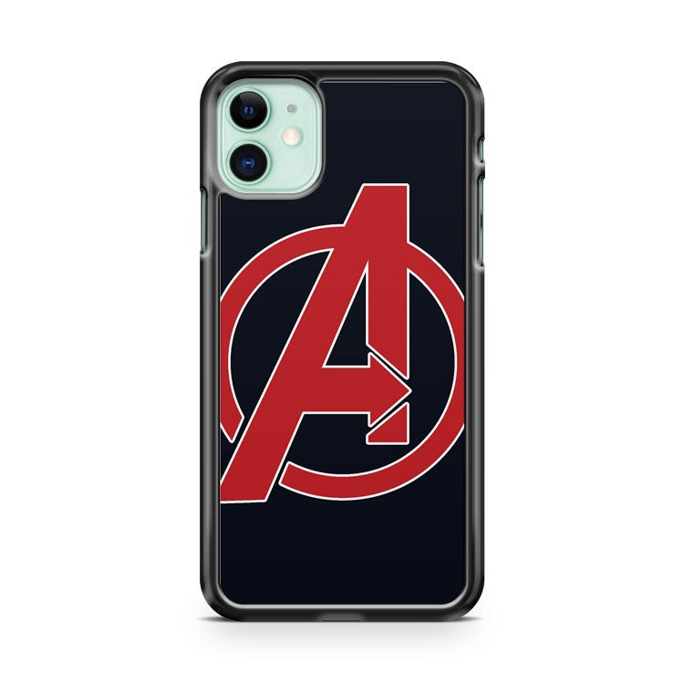 AVENGERS LOGO RED iPhone 11 Case Cover | Oramicase