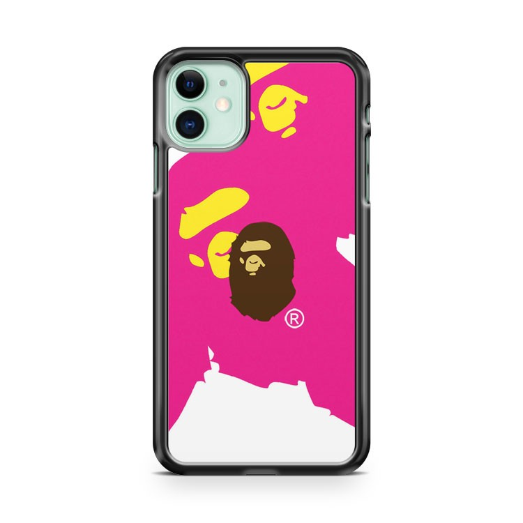 Bathing Ape Bape White Pink Face iPhone 11 Case Cover | Oramicase