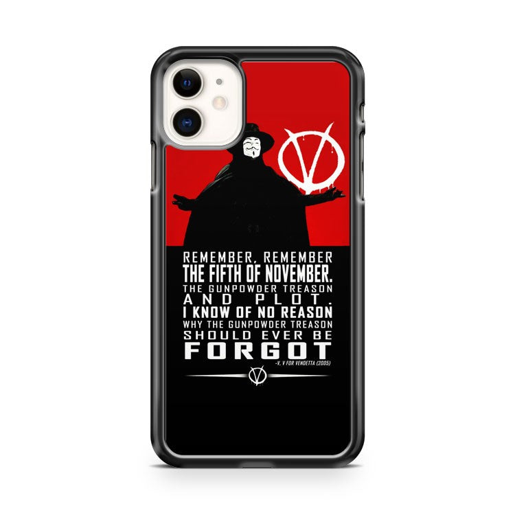 ANONYMOUS V VENDETTA MASK v quotes iPhone 11 Case Cover | Oramicase