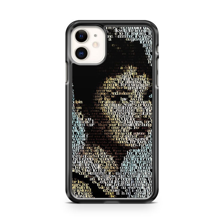 audrey hepburn typografi iPhone 11 Case Cover | Oramicase
