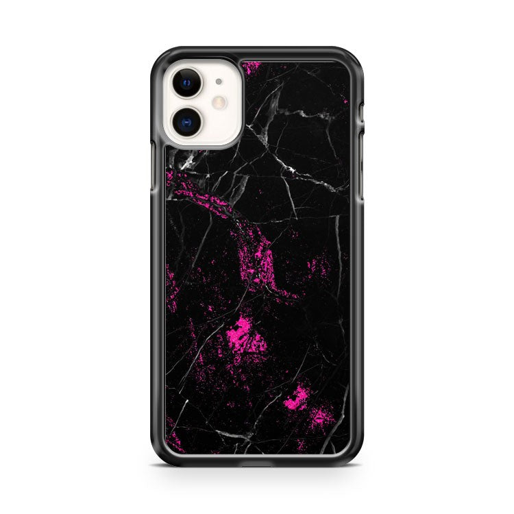 Beautiful Black and pink marble iPhone 11 Case Cover | Oramicase