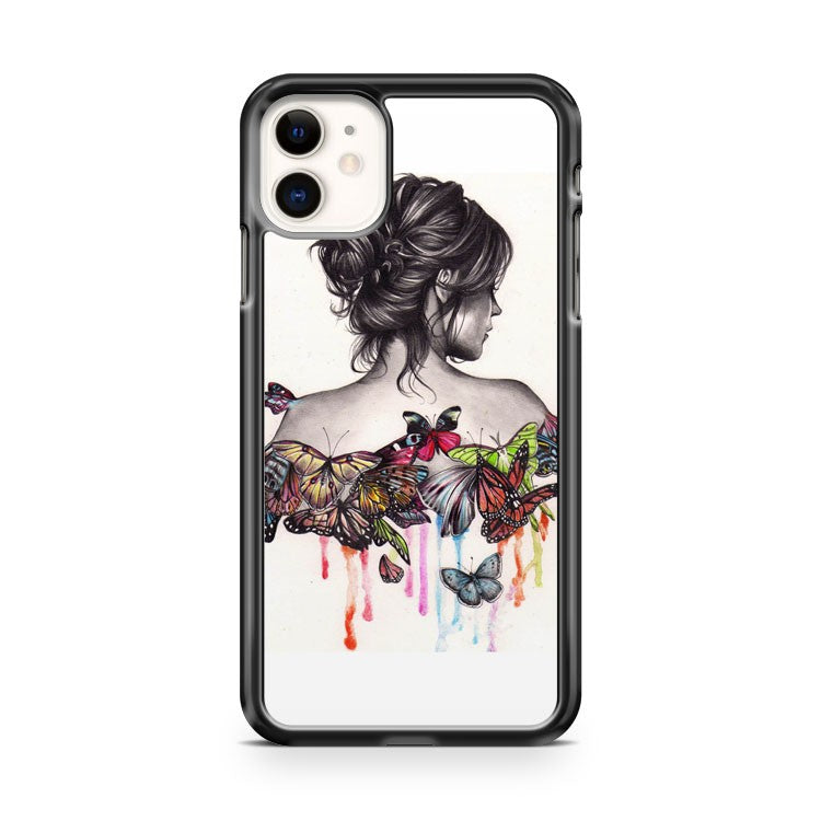Beautifull Girl butterfly effect iPhone 11 Case Cover | Oramicase