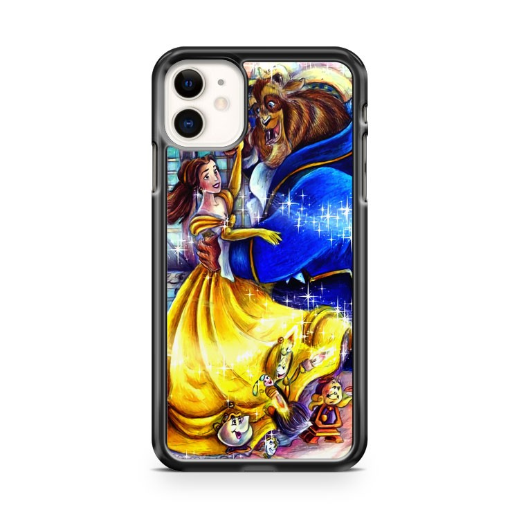 beauty and the beast colored iPhone 11 Case Cover | Oramicase