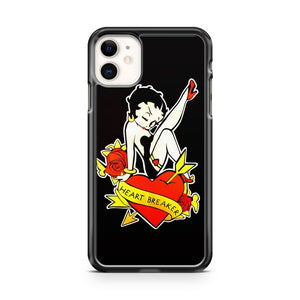 betty boop Heart Breaker iPhone 11 Case Cover | Oramicase