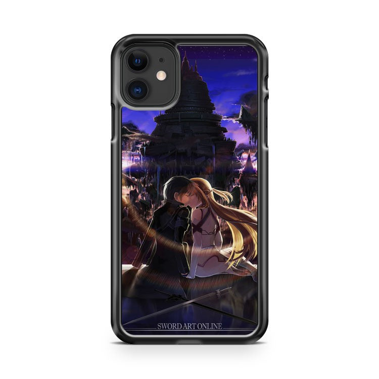 asuna and kirito kissing sword art iPhone 11 Case Cover | Oramicase