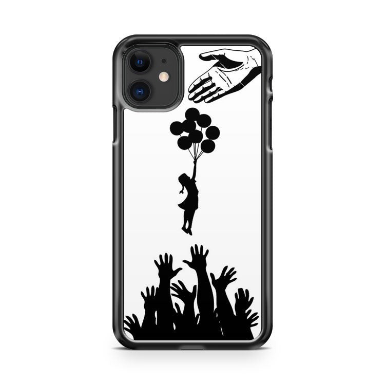 banksy tribute stencil iPhone 11 Case Cover | Oramicase