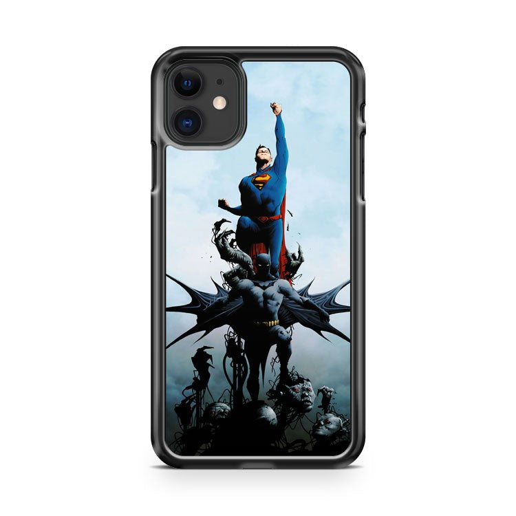 batman and superman comic iPhone 11 Case Cover | Oramicase