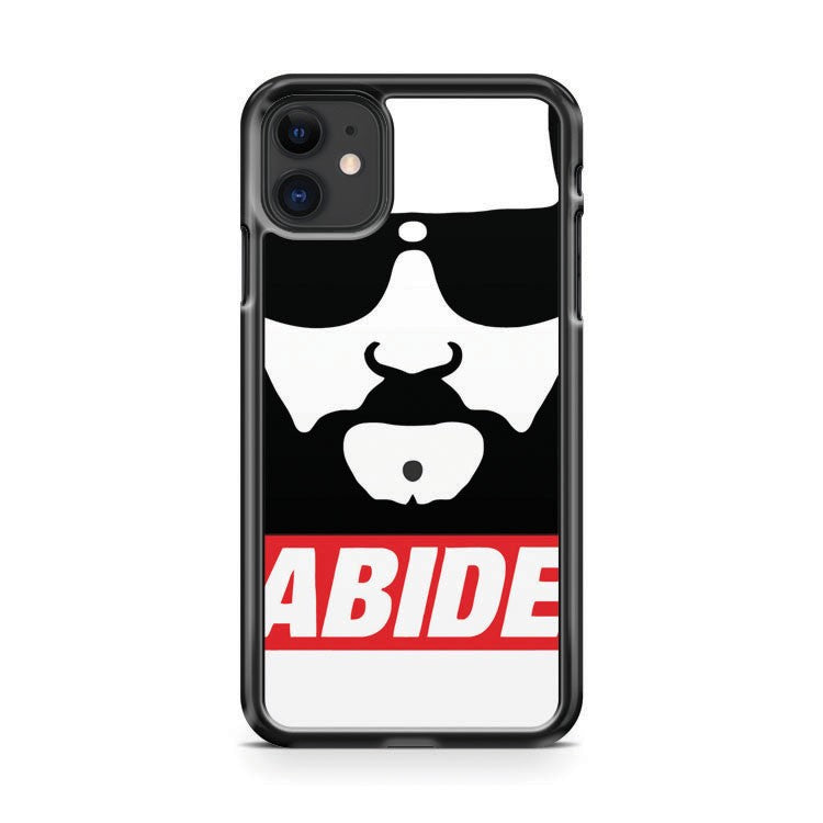 Big Lebowski The Dude Abide 2 iPhone 11 Case Cover | Oramicase