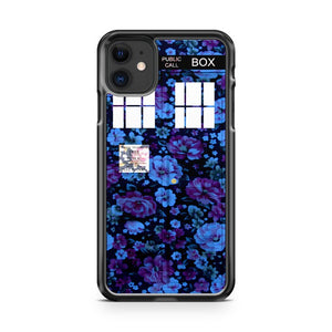 Floral TARDIS  iPhone 11 Case Cover | Oramicase