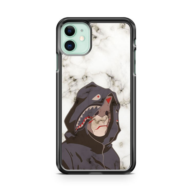 Bape Shark Anbu white marble iPhone 11 Case Cover | Oramicase