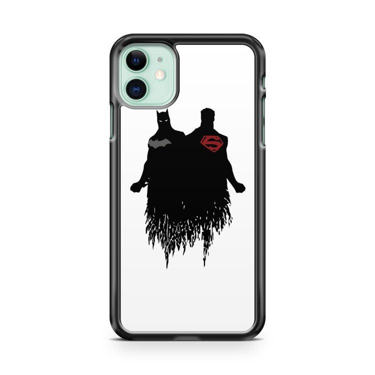 Batman And Superman Logo Silhoutte iPhone 11 Case Cover | Oramicase