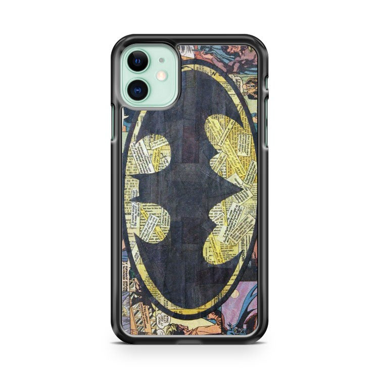 batman logo comic collage art iPhone 11 Case Cover | Oramicase