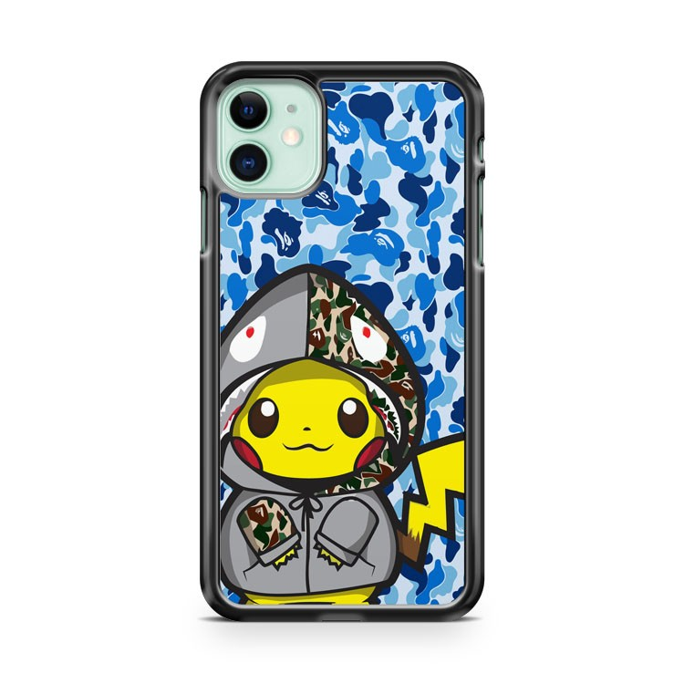 cool pokemon x bape iPhone 11 Case Cover | Oramicase