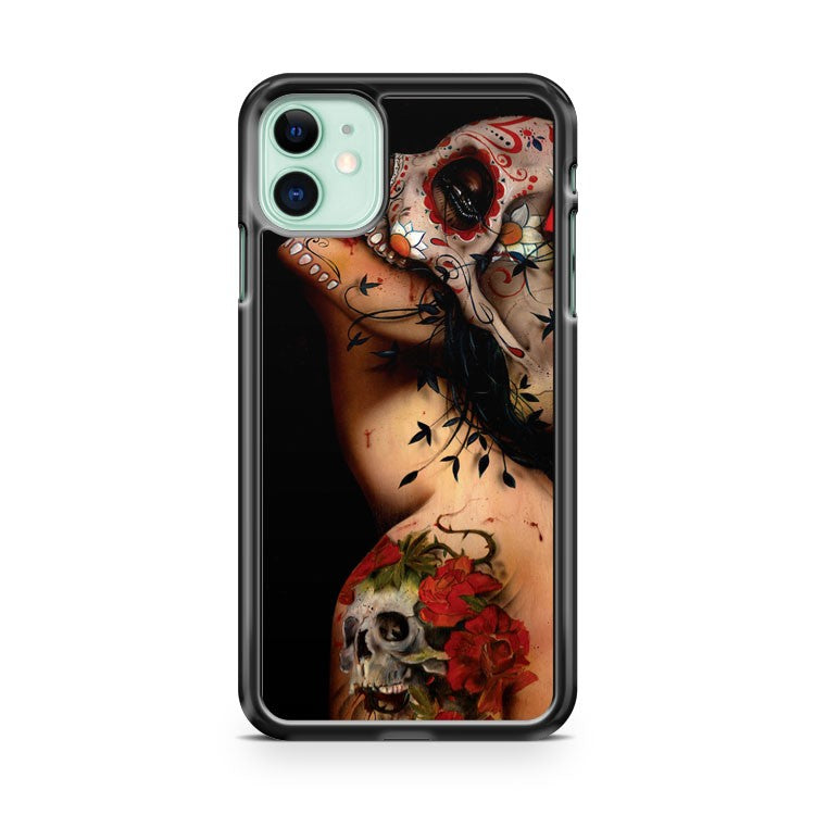 Floral Sugar Skull Tattooed iPhone 11 Case Cover | Oramicase