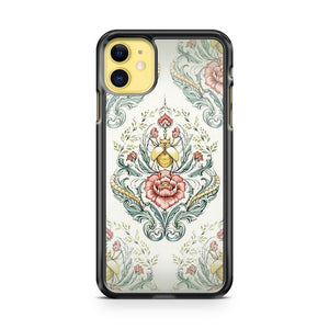 Antique pattern Beetle and centipedes iPhone 11 Case Cover | Oramicase
