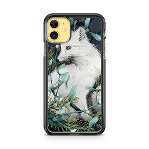 Arctic Fox Holiday Portrait iPhone 11 Case Cover | Oramicase