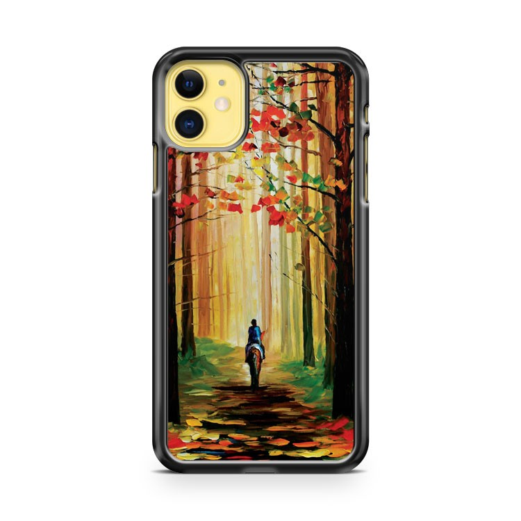Autumn Stroll On A Horse iPhone 11 Case Cover | Oramicase