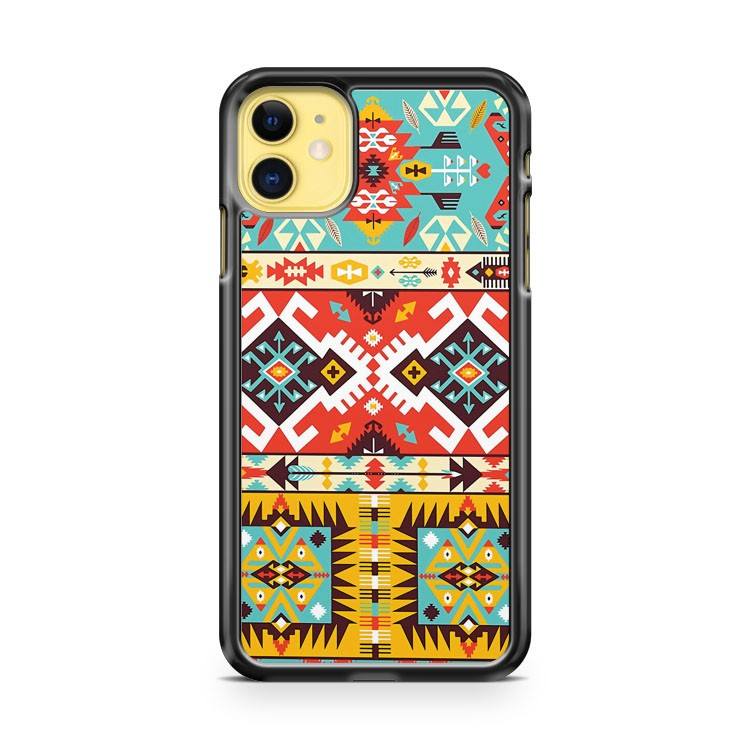 Aztec colorful fashion pattern iPhone 11 Case Cover | Oramicase