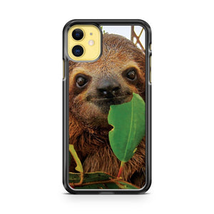 Baby Brown throated Three toed sloth iPhone 11 Case Cover | Oramicase