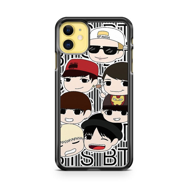 Bangtan Boys chibi iPhone 11 Case Cover | Oramicase
