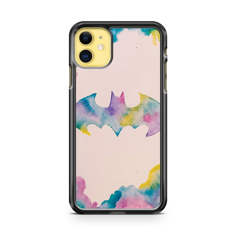 Batman Watercolour Logo iPhone 11 Case Cover | Oramicase